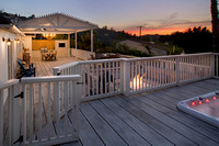 Spa over looking Deck